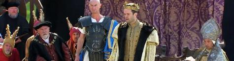 Tudordrama performed in the royal palace at Linlithgow in 2013.